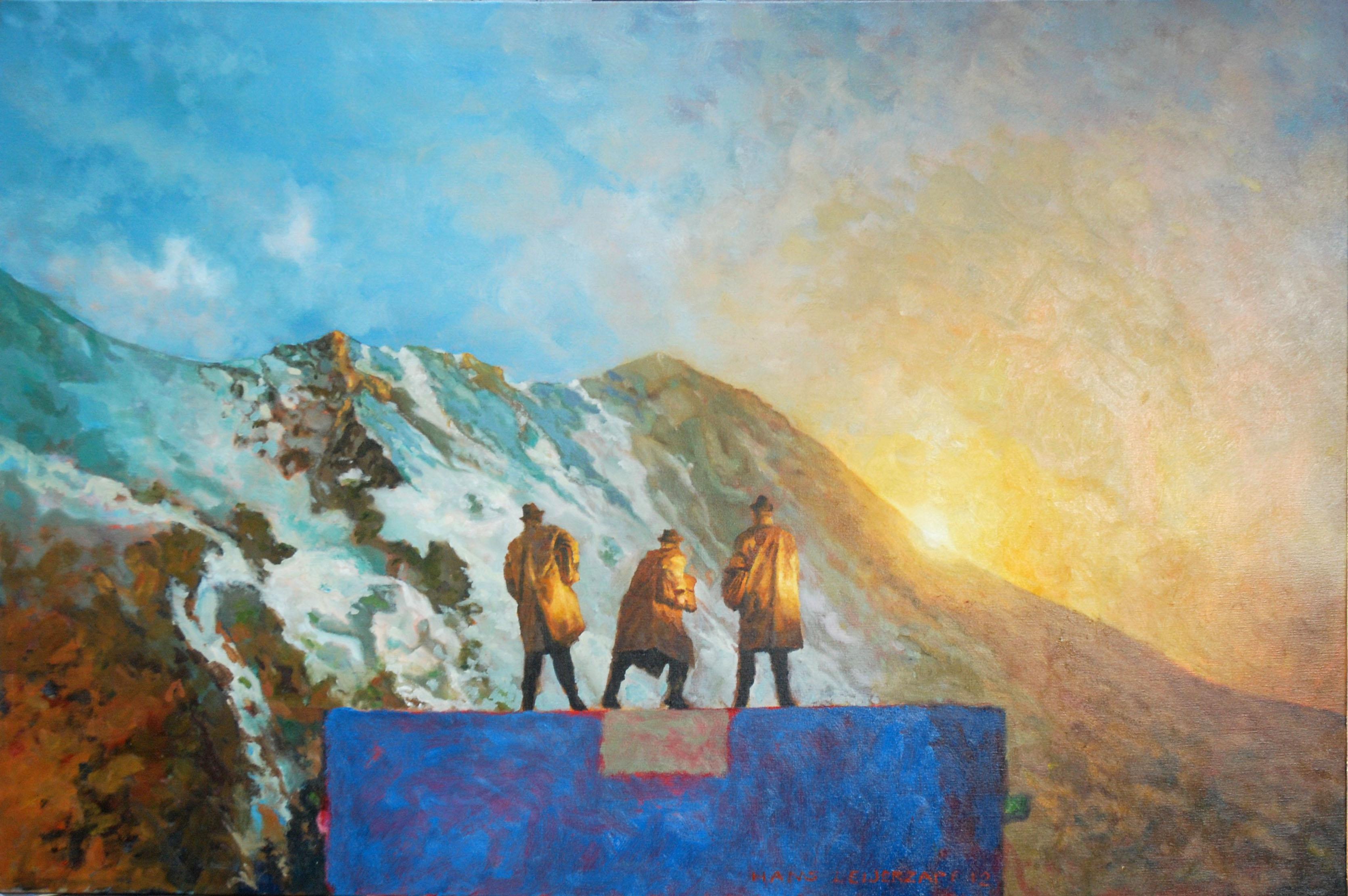Hans-Leijerzapf-schilderij-doek-canvas-Dat_weten_zij_als_geen_ander-150_100-cm